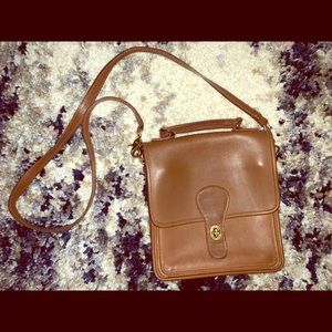 Vintage Coach Tan Crossbody